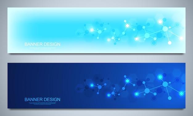 Modelo de design de banners com estruturas moleculares e rede neural