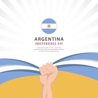 Modelo de design de banners de celebrações do dia nacional da argentina no dia da independência da argentina