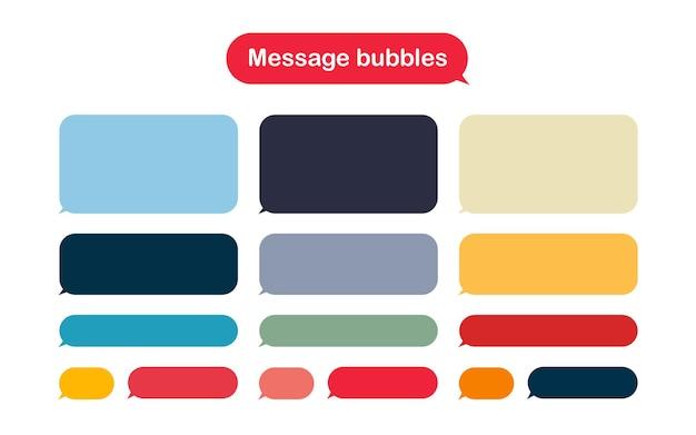 Modelo de design de bolhas de mensagem para bate-papo do mensageiro.