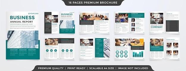 Modelo de design de brochura a4 com estilo minimalista e layout de conceito moderno, uso para proposta de negócios e relatório anual