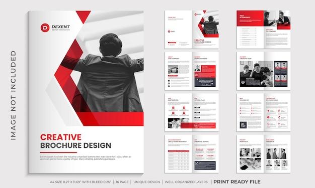 Modelo de design de brochura com perfil de empresa, design de brochura com várias páginas
