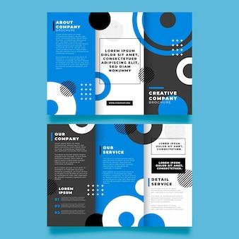 Modelo de design de brochura com três dobras abstrata