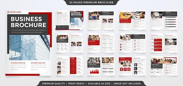 Modelo de design de brochura comercial com estilo moderno e minimalista