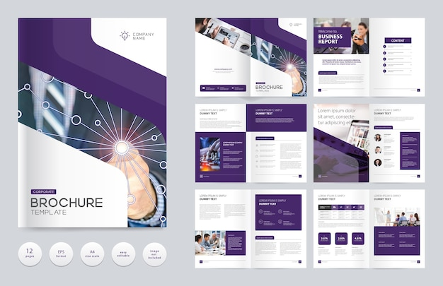Modelo de design de brochura comercial