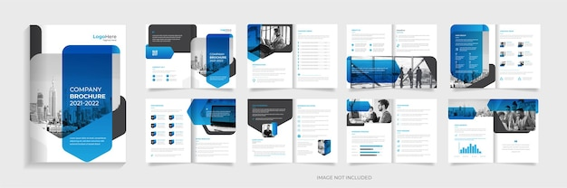 Modelo de design de brochura corporativa vetor premium de forma gradiente