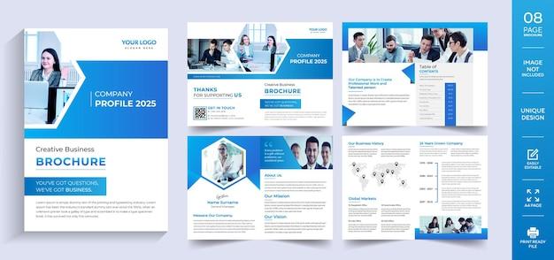 Modelo de design de brochura corporativa vetor premium