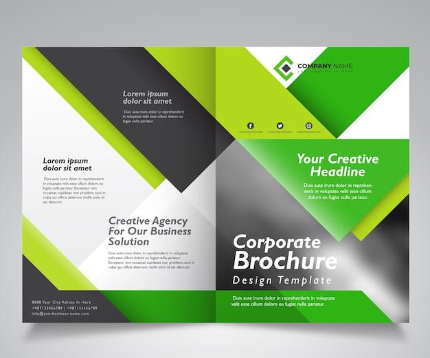 Modelo de design de brochura corporativa