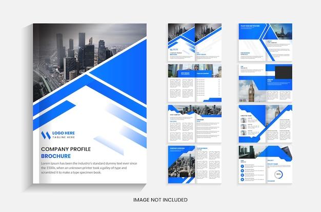Modelo de design de brochura da empresa com 16 páginas