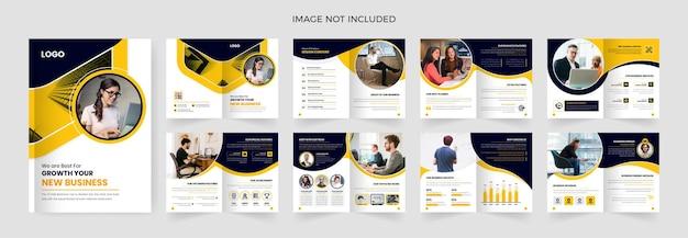 Modelo de design de brochura de 16 páginas