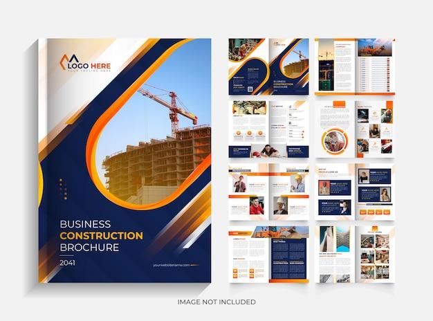 Modelo de design de brochura de construção