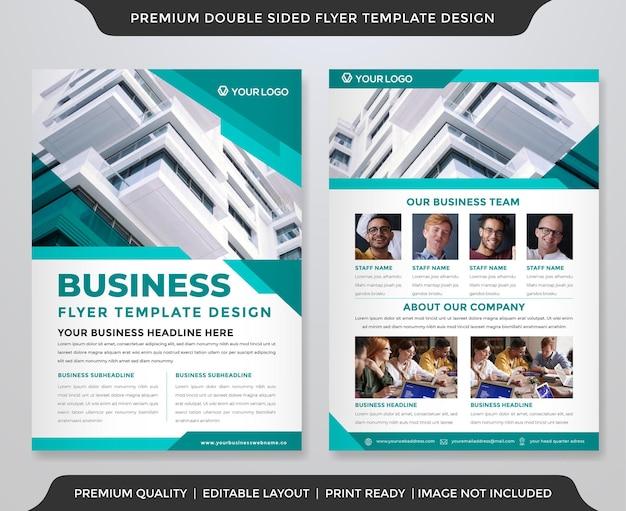 Modelo de design de brochura de negócios a4 com estilo abstrato e premium
