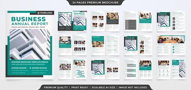 Modelo de design de brochura de negócios a4 com estilo moderno e minimalista