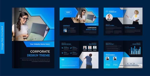 Modelo de design de brochura de negócios abstrato colorido tema moderno e criativo