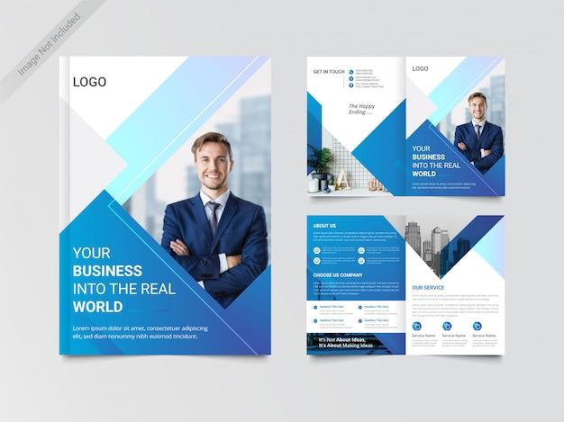 Modelo de design de brochura de negócios bi-fold