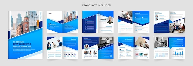 Modelo de design de brochura de negócios corporativos de 16 páginas
