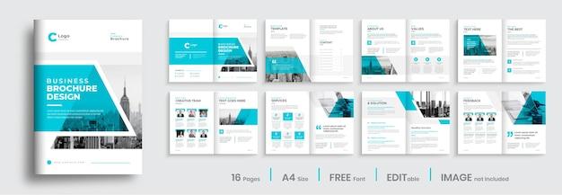 Modelo de design de brochura de negócios corporativos, layout de modelo de perfil de empresa minimalista
