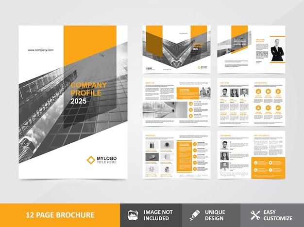 Modelo de design de brochura de perfil de empresa corporativa