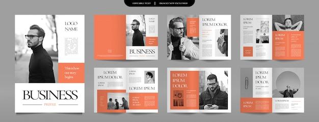 Modelo de design de brochura de perfil de negócios
