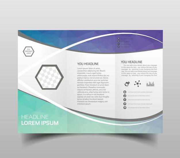Modelo de design de brochura de vetor moderno tri-fold