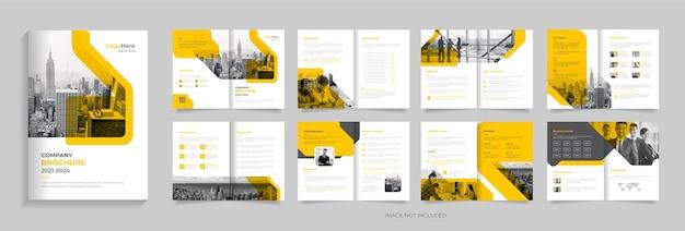 Modelo de design de brochura empresarial moderno com vetor premium de formas criativas