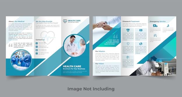 Modelo de design de brochura médica com três dobras