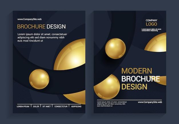 Modelo de design de brochura moderna