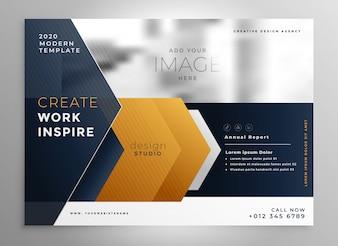 Modelo de design de brochura profissional abstrata