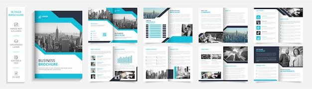 Modelo de design de brochura profissional corporativo moderno com duas dobras