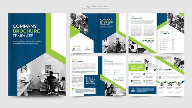 Modelo de design de brochura profissional para negócios