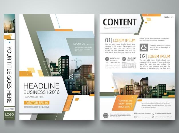 Modelo de design de brochura.