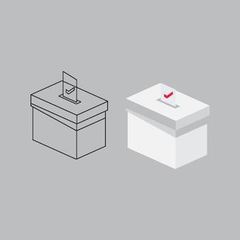 Modelo de design de caixa de votação para eleições presidenciais
