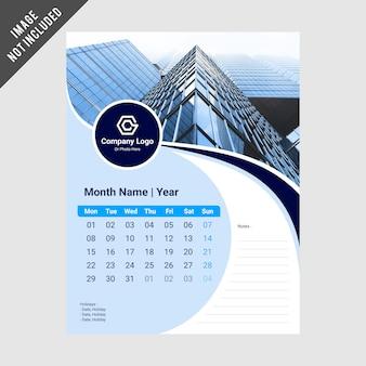 Modelo de design de calendário