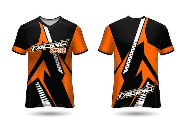 Modelo de design de camisa de corrida esportiva para uniformes de equipe