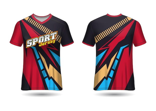 Modelo de design de camisa de esporte de equipe