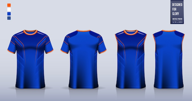 Modelo de design de camisa de esporte de t-shirt.