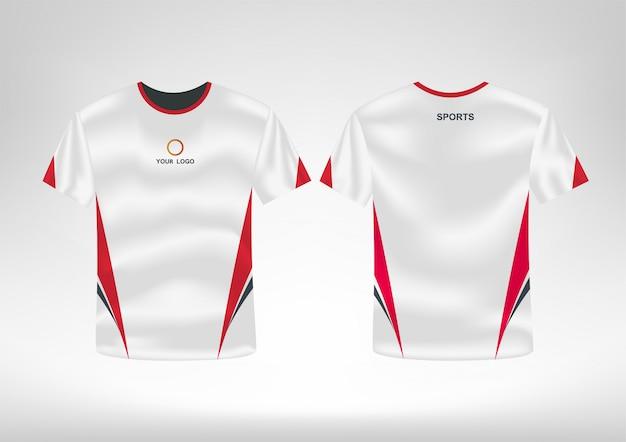 Modelo de design de camisa esporte t