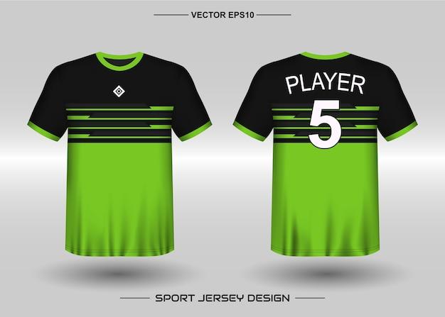 Modelo de design de camisa esportiva para time de futebol Vetor Premium