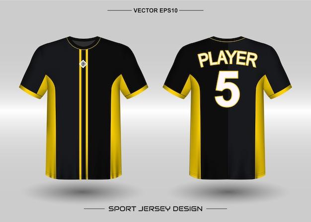 Modelo de design de camisa esportiva para time de futebol