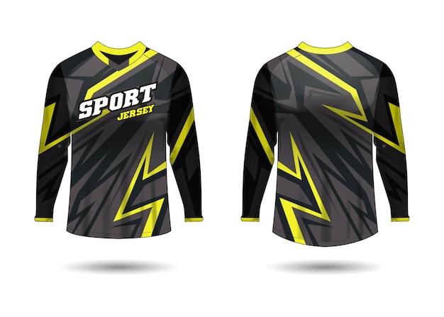Modelo de design de camisa esportiva para uniformes de equipe