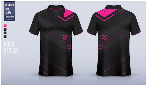 Modelo de design de camisa polo.