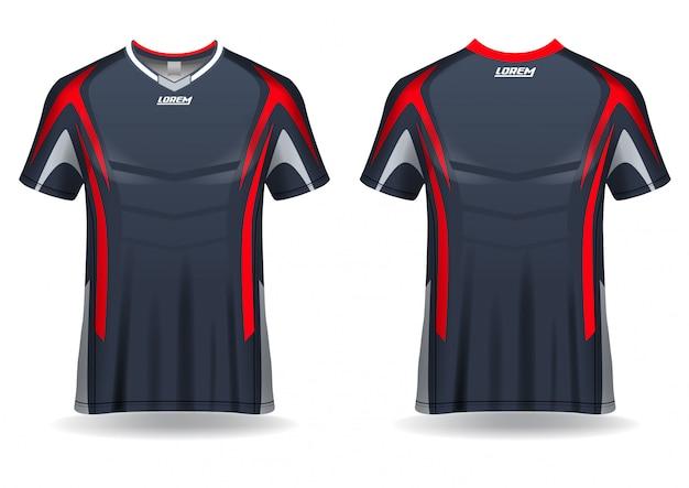 Modelo de design de camiseta de esporte de camiseta