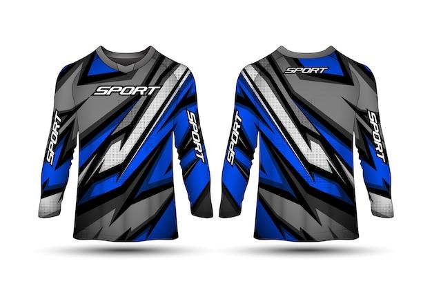 Modelo de design de camiseta de manga comprida design de camisa de jérsei de corrida esporte motocicleta
