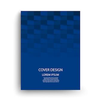 Modelo de design de capa azul.