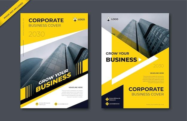 Modelo de design de capa brochura comercial