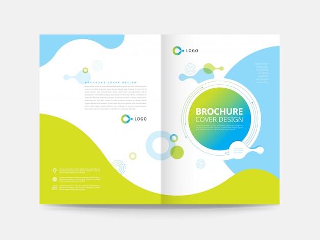 Modelo de design de capa brochura