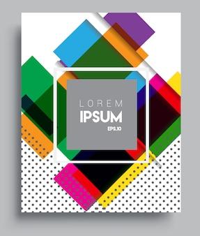 Modelo de design de capa com fundo abstrato e colorido
