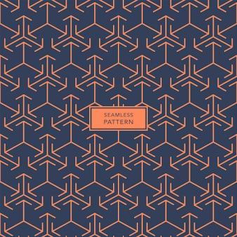 Modelo de design de capa com padrão geométrico azul e laranja. desatado.