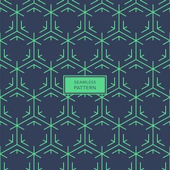 Modelo de design de capa com padrão geométrico azul e verde. padrão uniforme.