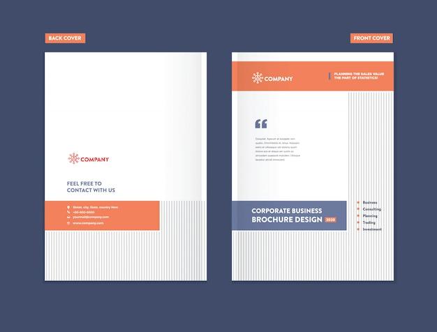 Modelo de design de capa de brochura de negócios