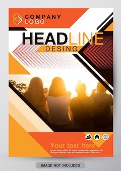 Modelo de design de capa de brochura.